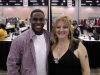 Sherrie poses with Nick Jones, who played John Stewart in the 2011 movie, Green Lantern. (His scene was cut! What a gyp!)